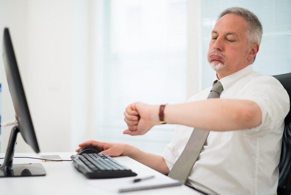 man waiting for website to load
