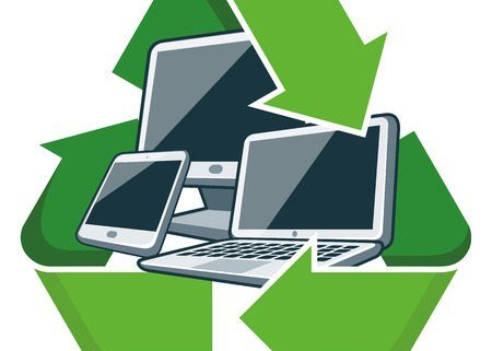 Computers in Recycle Symbol