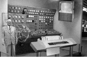 old photo of a very large old computer